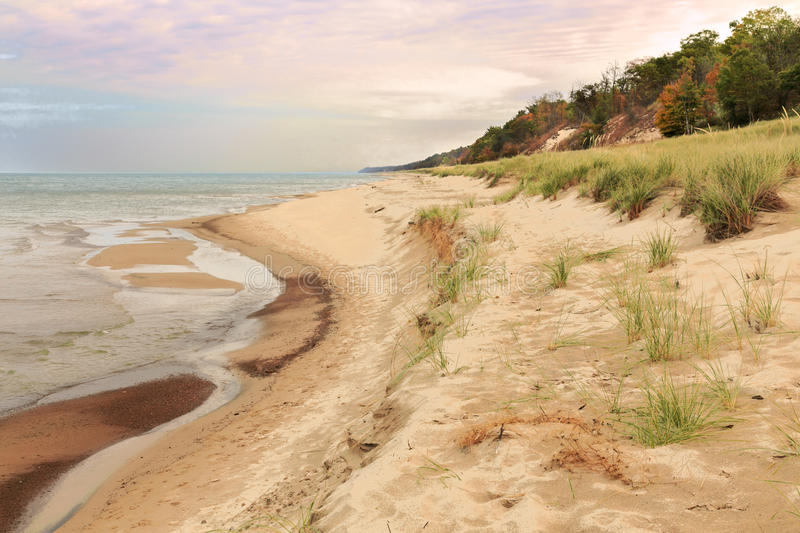 Indiana Dunes in the Fall royalty free stock image