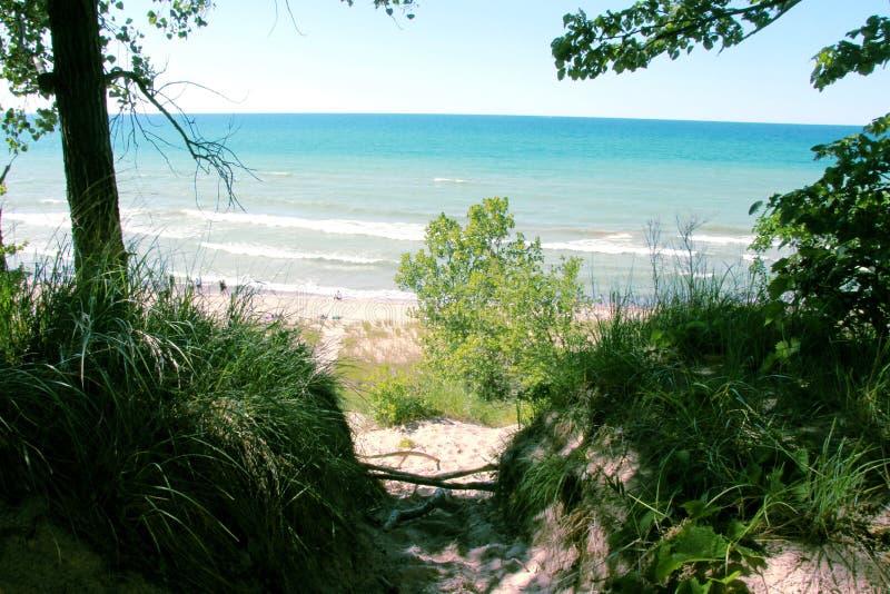 Indiana Dunes National Lakes Shore foto de archivo