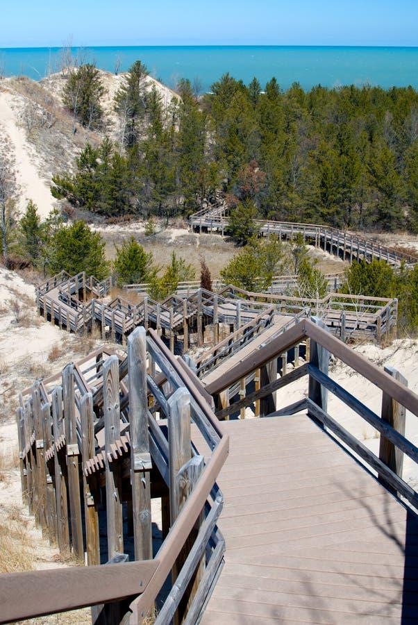 Indiana Dunes National Lakeshore imagem de stock royalty free