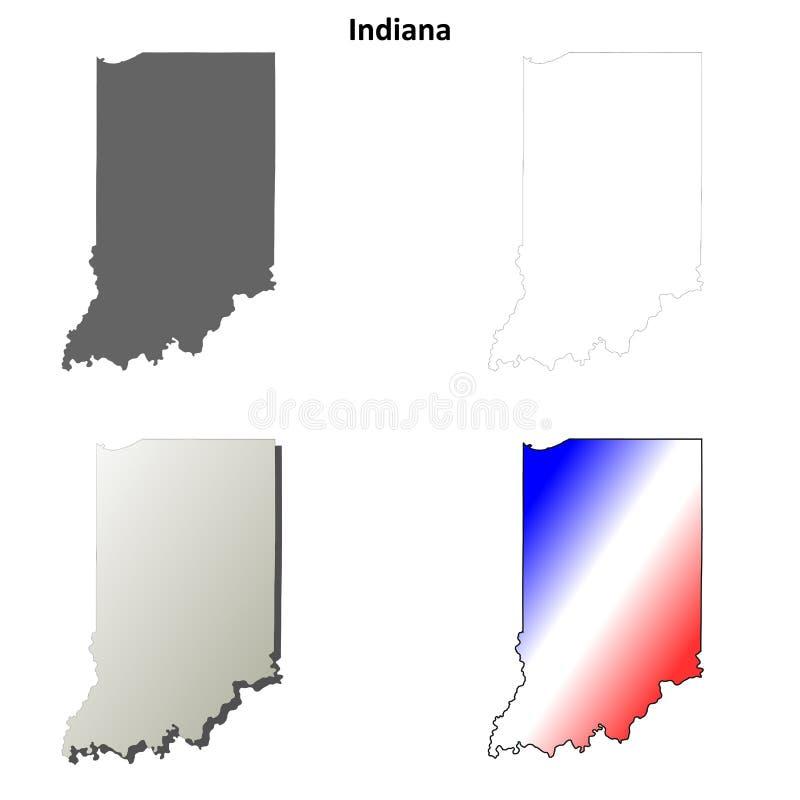 Indiana-Entwurfskartensatz lizenzfreie abbildung