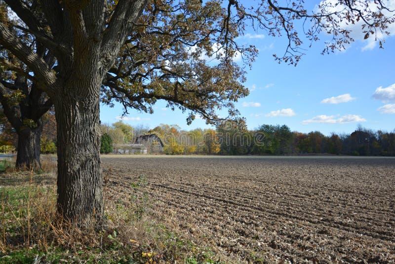 Indiana Farmhouse in Autumn royalty free stock photos