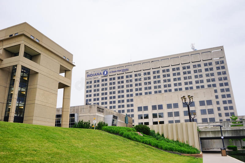 Indiana government center royalty free stock photography