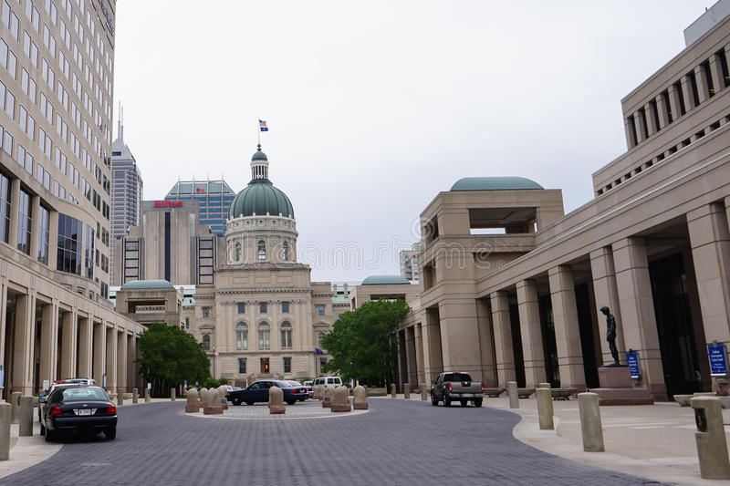 Indiana government center and capitol royalty free stock photography