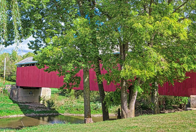 Covered Bridges of Southern Indiana. Indiana has a number of covered bridges in the southern part of the state stock images
