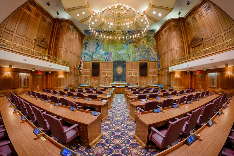 Indiana House Chamber images stock