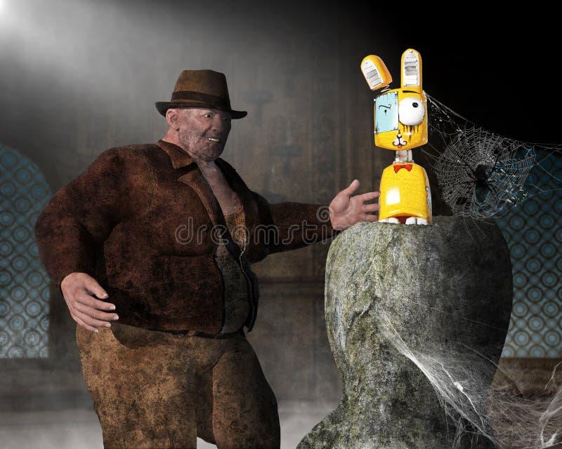 Indiana Jones Adventure engraçada, caça do tesouro imagens de stock royalty free