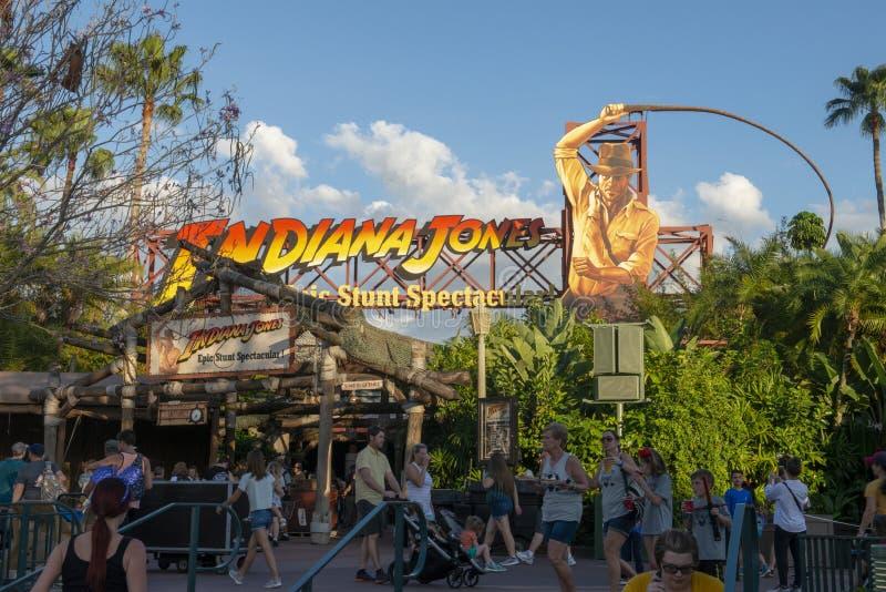 Indiana Jones, Disney World, curso, estúdios de Hollywood fotografia de stock royalty free