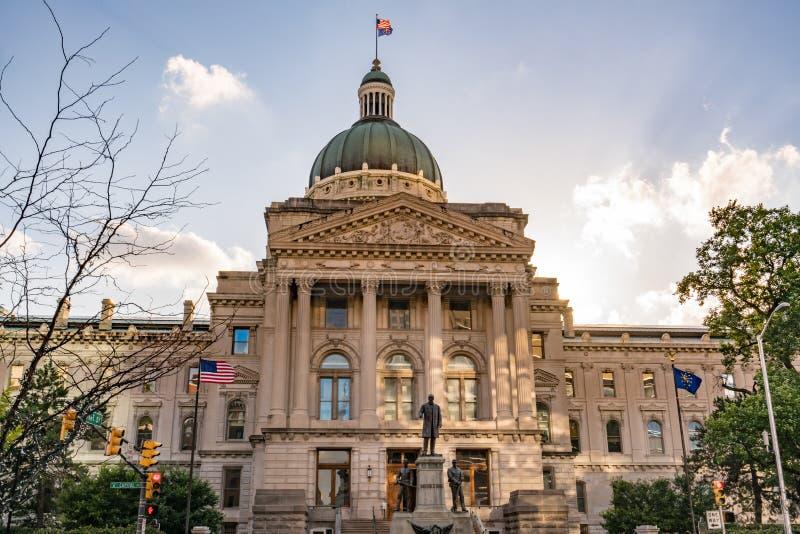 Indiana Kapitałowy budynek obrazy royalty free