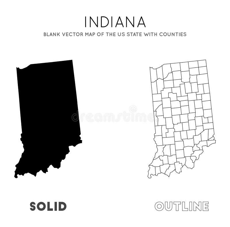 Indiana-Karte vektor abbildung