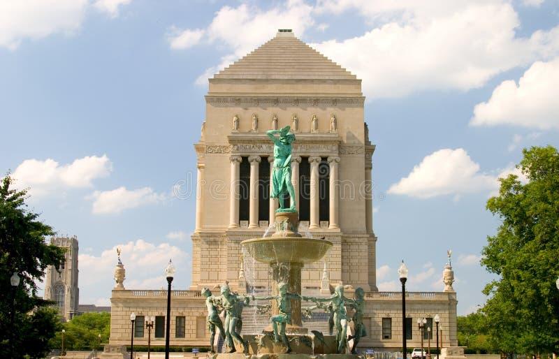 Indiana-Krieg-Denkmal stockfotografie