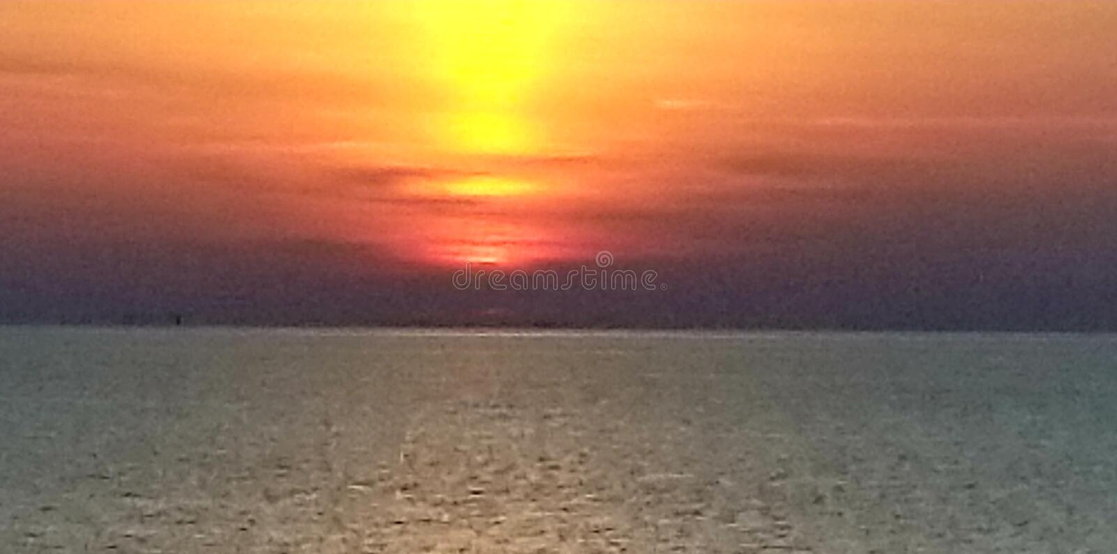 Indiana lake shore. Northwest, indiana, lake, shore, sunset royalty free stock photos