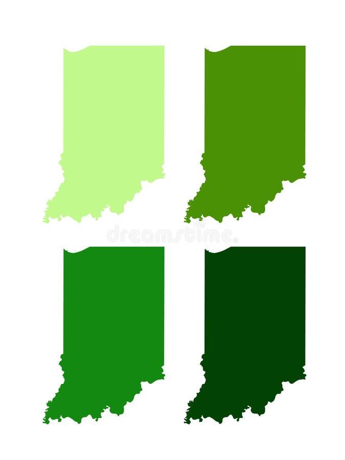 Indiana mapa - U S stan lokalizować w midwestern i Wielkich jezioro regionach Północna Ameryka ilustracji