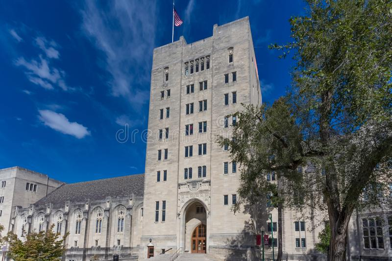 Indiana Memorial Union sur le campus de l'université de l'Indien photos stock