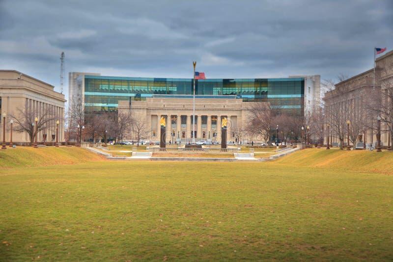 Indiana offentligt bibliotek i galleria för amerikansk legion royaltyfri foto