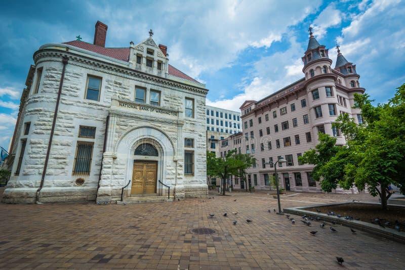 Indiana Plaza, en Washington céntrico, DC foto de archivo