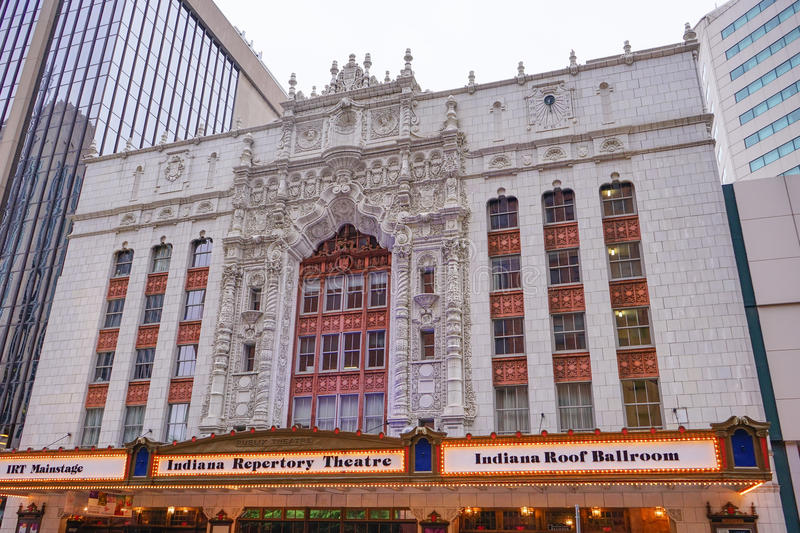 Indiana repertory theater at downtown Indianapolis, royalty free stock photos