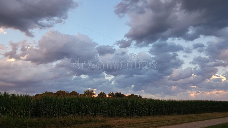 Indiana sky. Indiana clouds sky royalty free stock photo