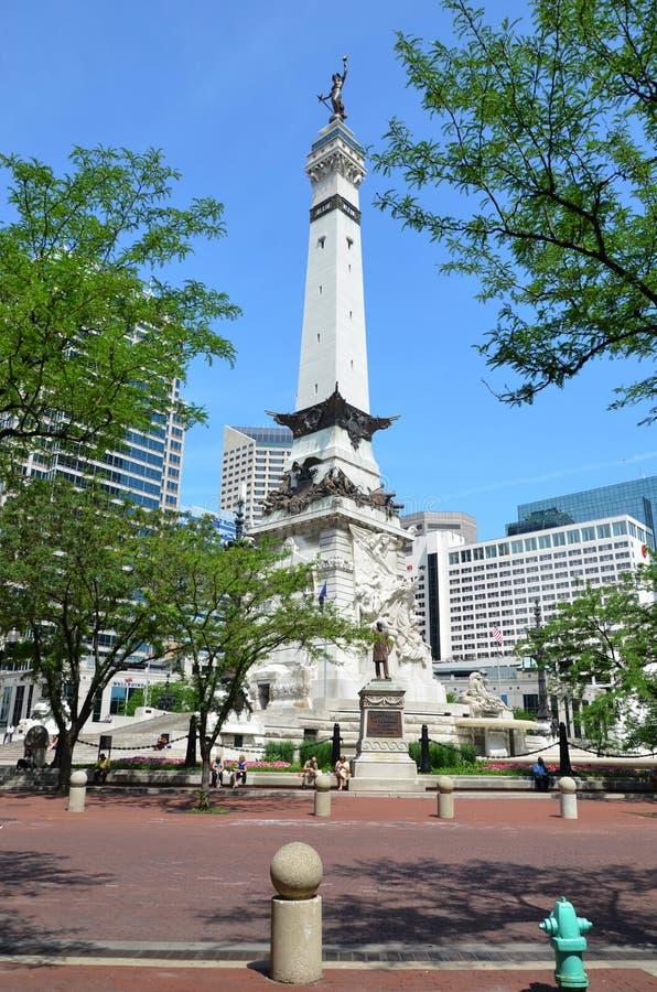 Indiana Soldiers ' et le monument des marins images libres de droits