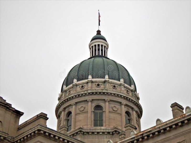 Indiana stanu domu kopuły szczegół zdjęcia stock