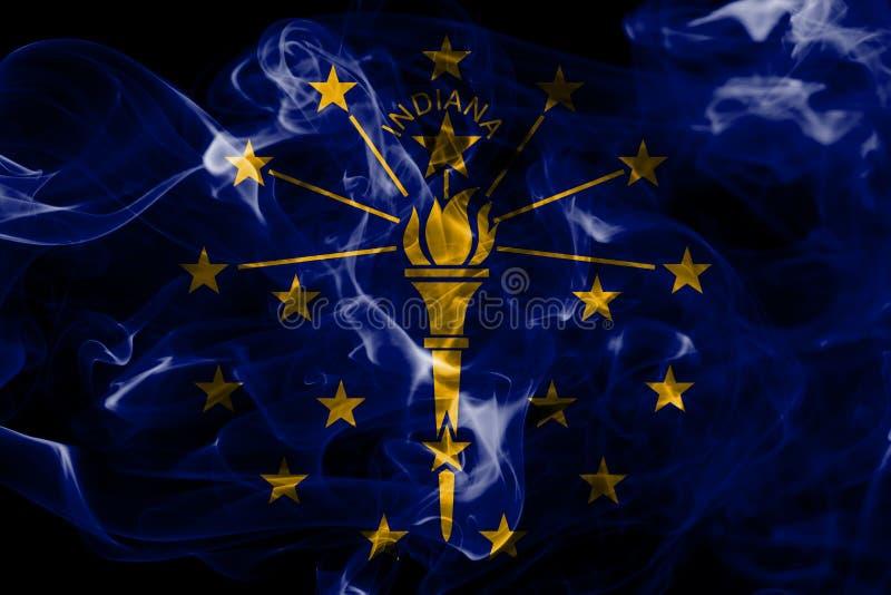 Indiana stanu dymu flaga, Stany Zjednoczone Ameryka fotografia stock