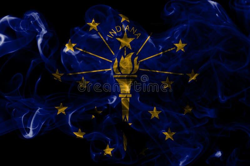 Indiana stanu dymu flaga, Stany Zjednoczone Ameryka zdjęcia royalty free