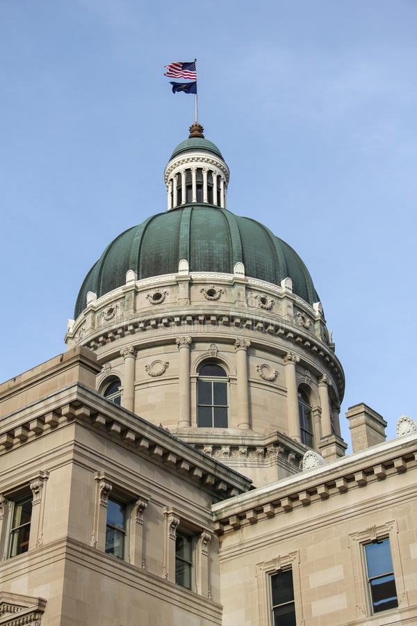 Indiana State Capitol Dome. Dome of Indiana state capital building in Indianapolis, Indiana stock image