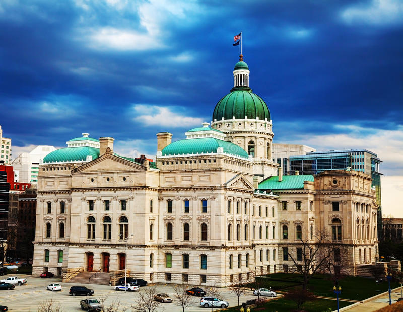 Indiana state capitol building. In Indianapolis royalty free stock photos