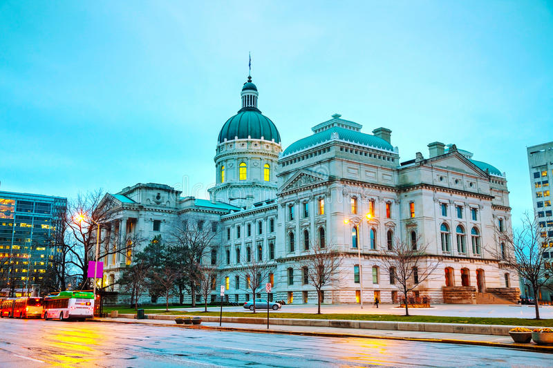 Indiana state capitol building stock images