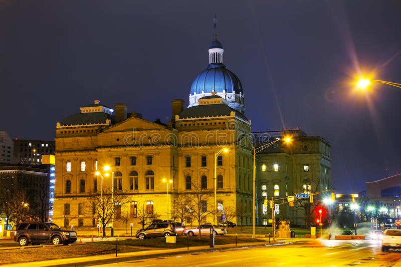 Indiana state capitol building. In Indianapolis stock image