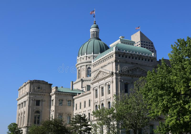 Indiana State Capitol Building von Indianapolis lizenzfreie stockfotos