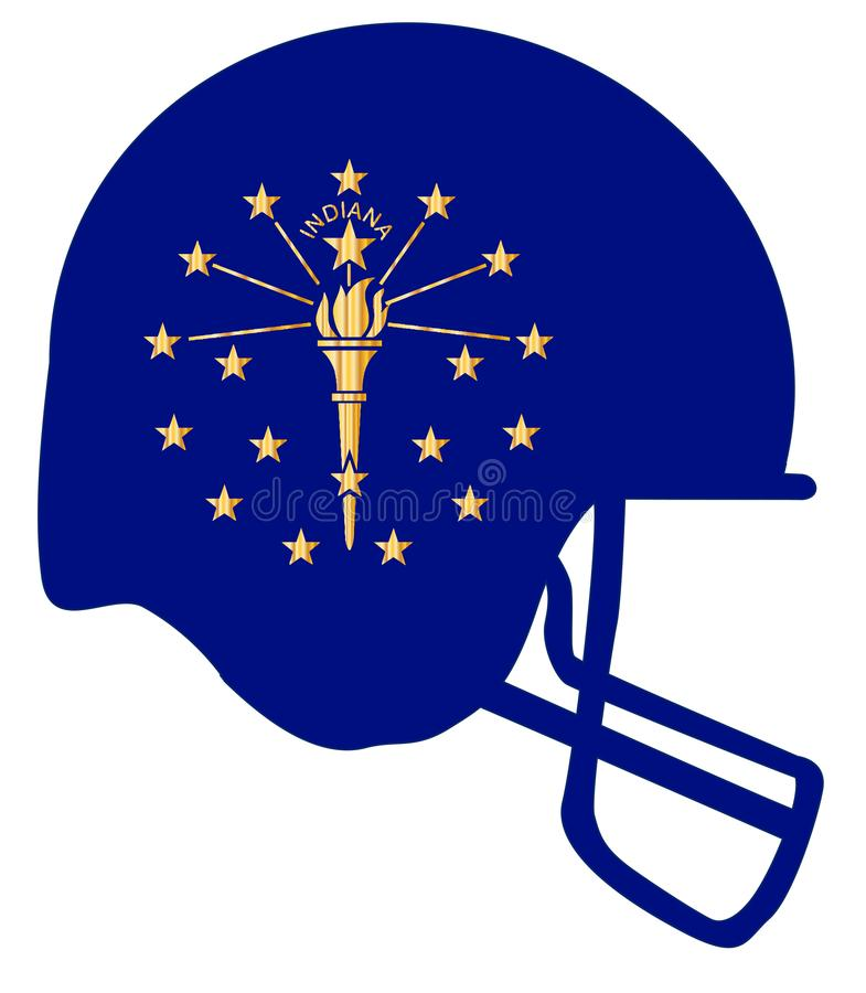 Indiana State Flag Football Helmet illustrazione vettoriale