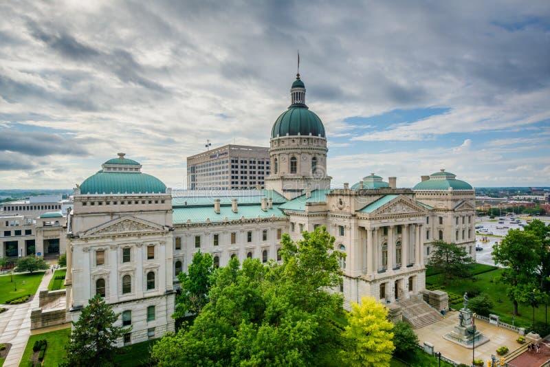 Indiana State House en Indianapolis, Indiana imágenes de archivo libres de regalías