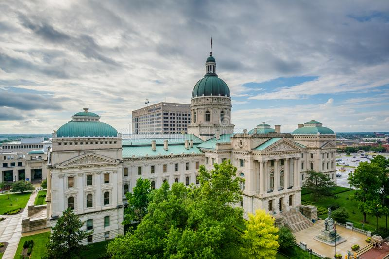 The Indiana State House in Indianapolis, Indiana.  royalty free stock images