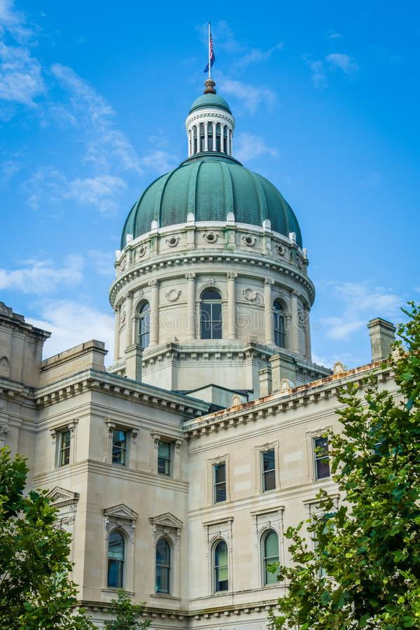 The Indiana State House in Indianapolis, Indiana.  stock photography