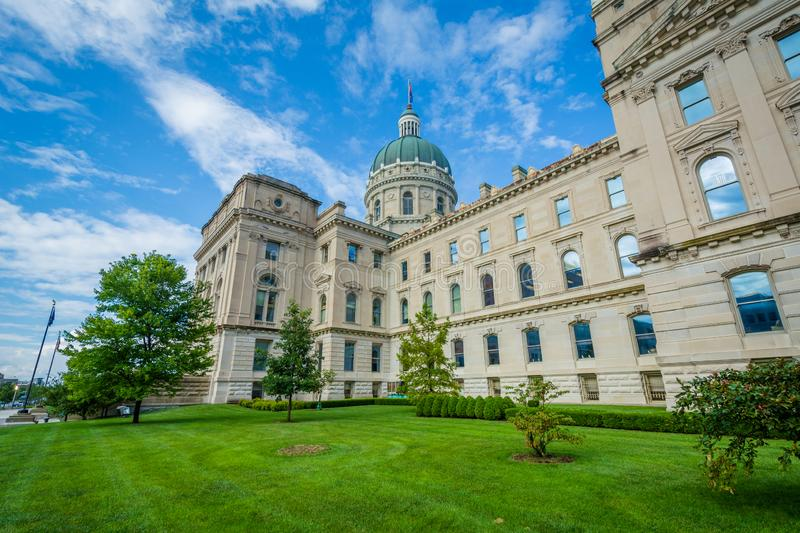 The Indiana State House in Indianapolis, Indiana.  royalty free stock image