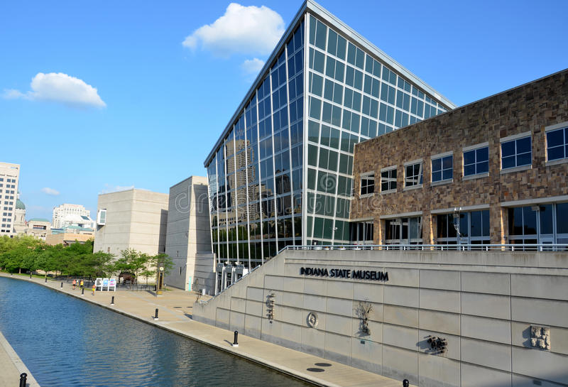 Indiana State Museum from Canal Walk royalty free stock image