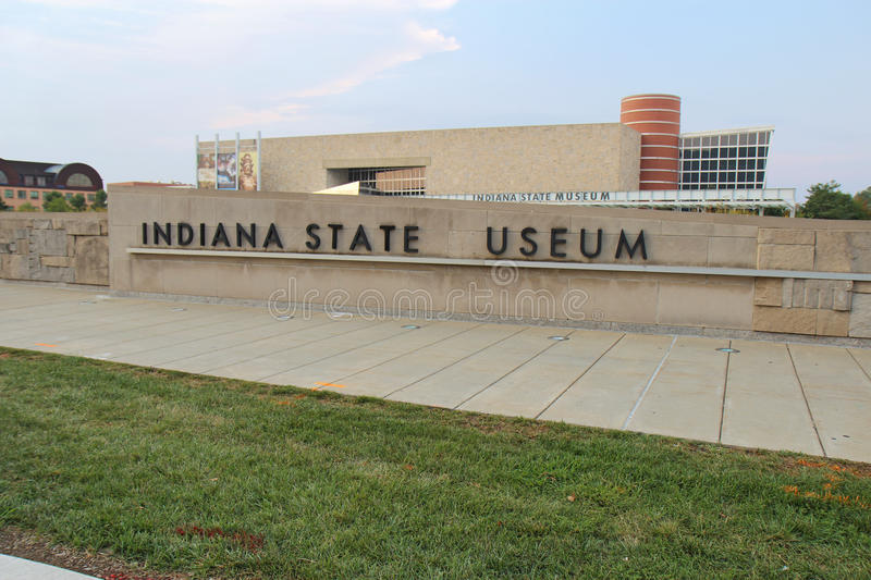 The Indiana State Museum in Indianapolis. INDIANAPOLIS - SEPTEMBER 3: Exterior view of the Indiana State Museum in Indianapolis, Indiana, on September 3, 2011 royalty free stock photos