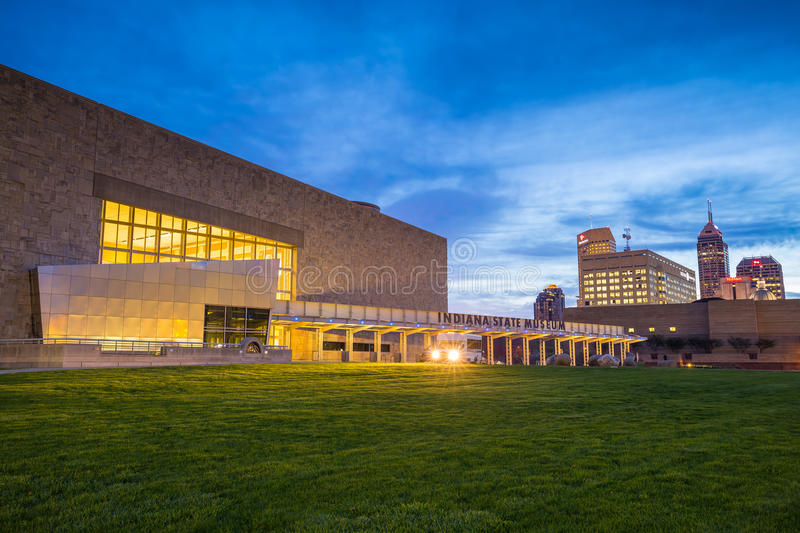 Indiana State Museum. INDIANAPOLIS, INDIANA, April 15, 2015: Indiana State Museum that houses exhibits of science, art, culture and history of Indiana. It is royalty free stock image