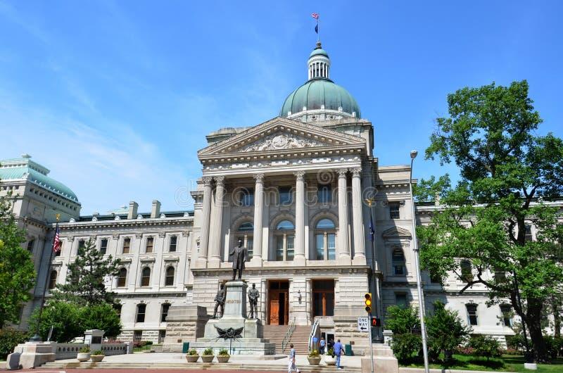 Indiana Statehouse arkivbild