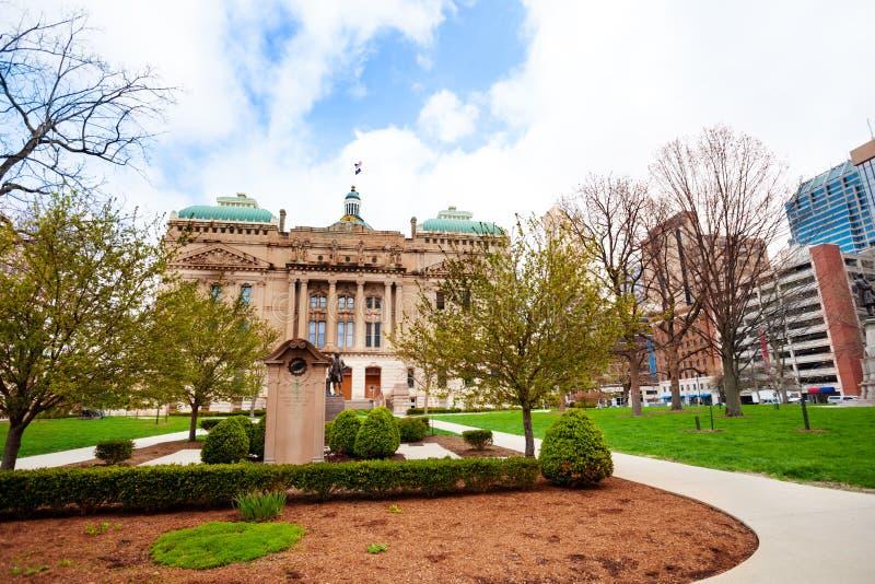 Indiana Statehouse byggnad i Indianapolis, USA arkivbild
