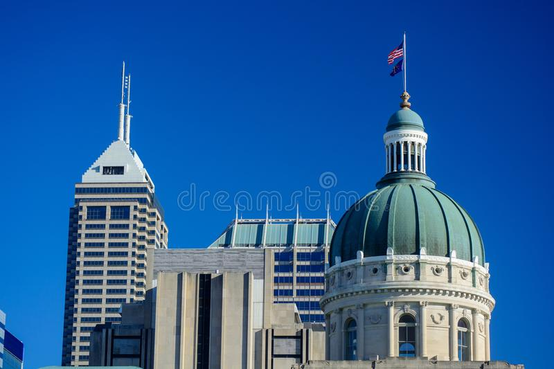 Indiana Statehouse Capitol Building Dome auf Sunny Day mit stockfotografie