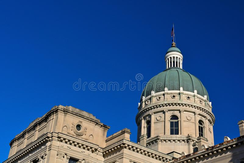 Indiana Statehouse Capitol Building on a Sunny Day stock image