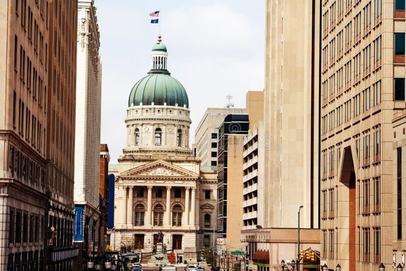 Indiana Statehouse-Gebäude, Indianapolis, USA stockfoto
