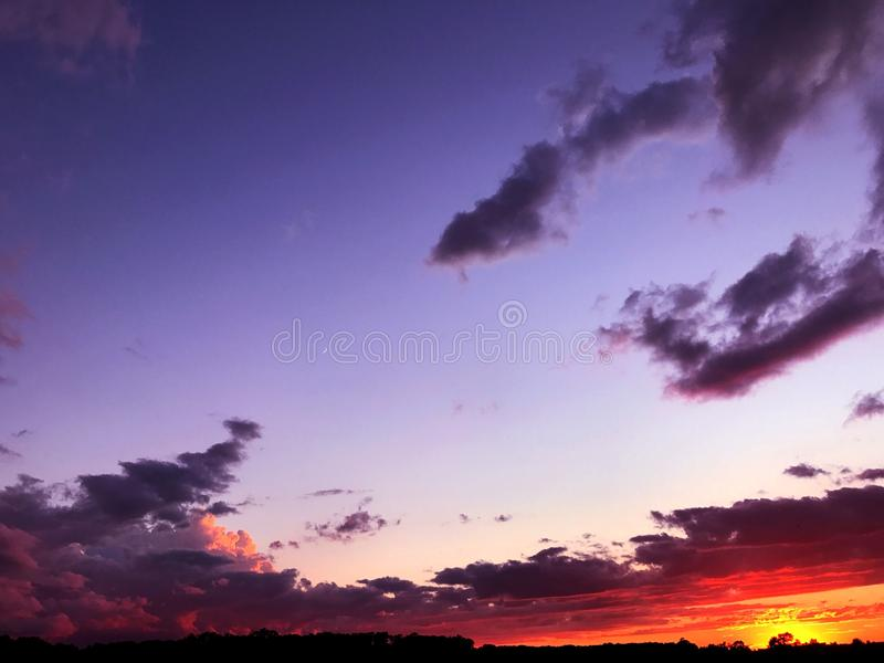 Indiana sunsets stock images