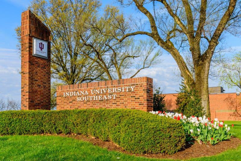 Indiana University Southeast New Albany Indiana fotografia de stock