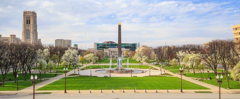 Indiana Veterans Memorial Plaza immagini stock libere da diritti
