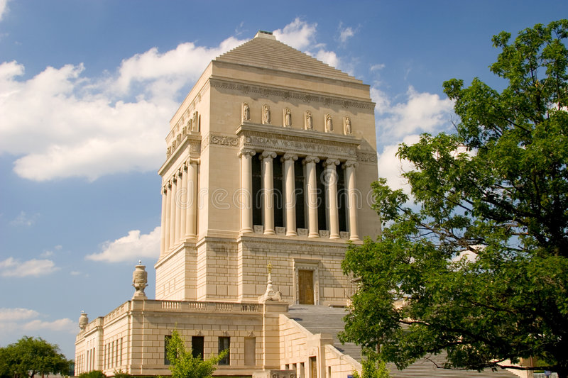 Indiana War Memorial. Indiana World War Memorial Builiding in downtown Indianapolis royalty free stock photography