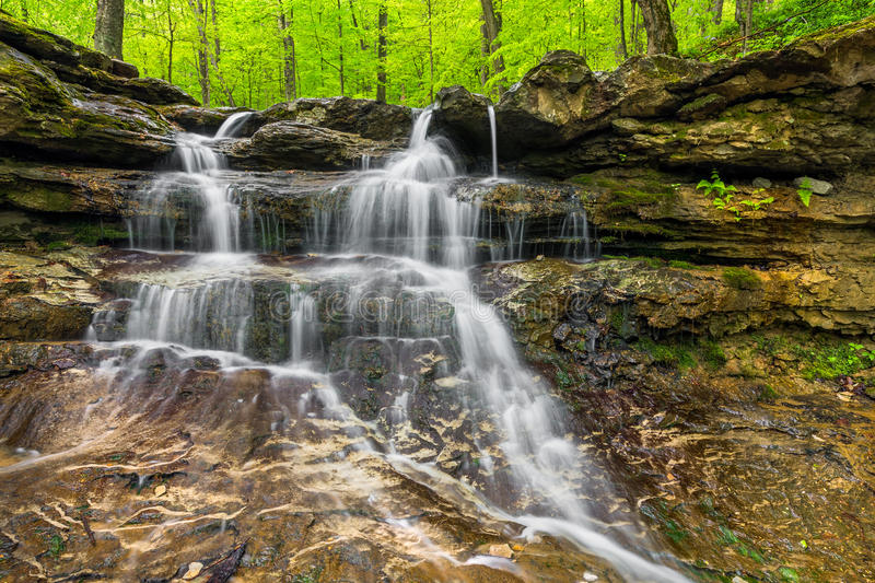 Indiana Waterfall pequena imagens de stock royalty free