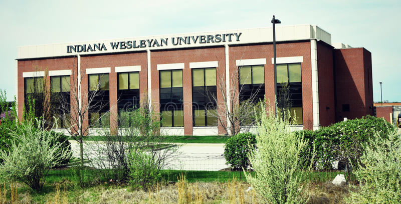 Indiana Wesleyan University. Is an evangelical Christian comprehensive university of The Wesleyan Church. The University was founded in 1920 as Marion College royalty free stock images