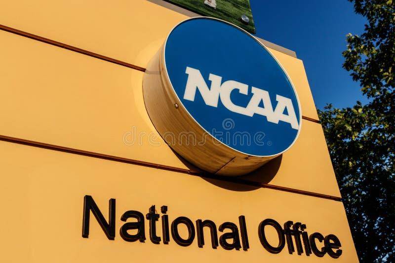 Indianapolis - cerca do julho de 2018: Matrizes nacionais da associação atlética escolar O NCAA regula o atletismo III da faculda imagem de stock